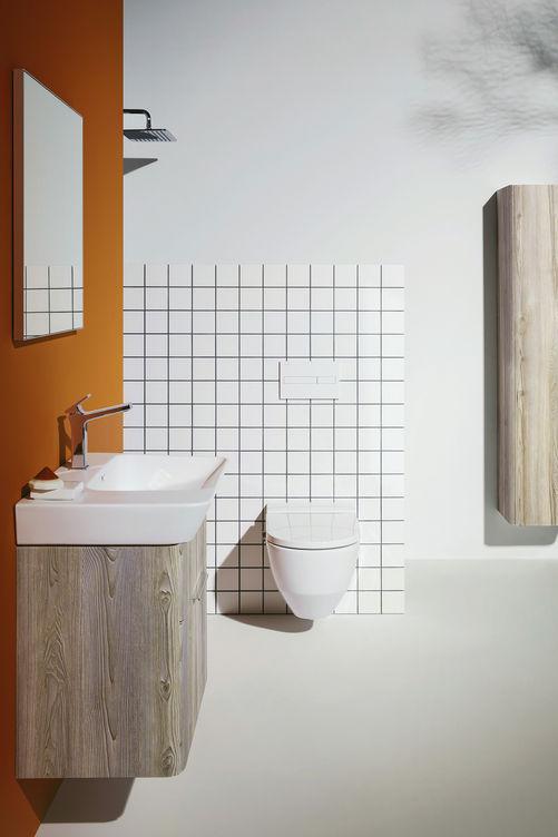 MODERNA, conçu par le designer suisse Peter Wirz (Process Design), s'adapte à tous les styles. L'ancrage visuel de la collection se révèle avec douceur. Laufen.